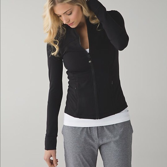 Black fitted zip up jacket
